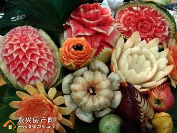 水果雕花 除了要吃出花样,还要玩出花样 【永兴碧桂园】 聘请专业